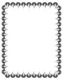 Czarny i biały giloszuje vertical ramę Raster klamerki sztuka Zdjęcia Royalty Free