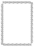Czarny i biały giloszuje vertical ramę Raster klamerki sztuka Obraz Royalty Free