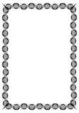 Czarny i biały giloszuje vertical ramę Raster klamerki sztuka Fotografia Royalty Free