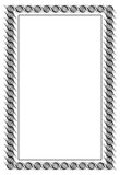 Czarny i biały giloszuje vertical ramę Raster klamerki sztuka Zdjęcia Stock