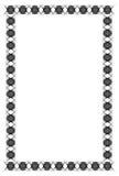Czarny i biały giloszuje vertical ramę Raster klamerki sztuka Zdjęcie Royalty Free