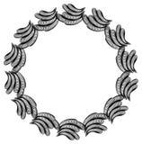 Czarny i biały giloszuje wokoło ramy Raster klamerki sztuka Zdjęcie Royalty Free