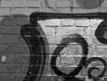 Czarny i biały graffiti ściany tło Fotografia Royalty Free