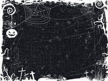 Czarny i biały grunge Halloween rama Fotografia Royalty Free