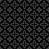 Czarny I Biały gwiazd Bezszwowy tło ilustracji