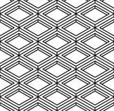 Czarny i biały iluzoryczny abstrakcjonistyczny geometryczny bezszwowy 3d wzór obrazy royalty free