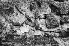 Czarny i biały kamiennej ściany tekstura Zdjęcia Royalty Free
