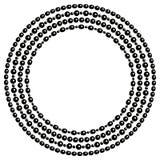 Czarny i biały koralik kolie zawiązują wokoło ramy, wektor royalty ilustracja