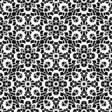 Czarny i biały koronka wzór Zdjęcia Stock