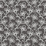 Czarny i biały koronka wzór Zdjęcia Royalty Free