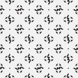 Czarny i biały królewski wzór tło bezszwowy wektora ilustracji