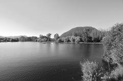 Czarny i biały krajobraz Fotografia Stock