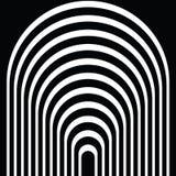 Czarny i biały kurenda wykłada tunel ilustracji