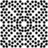 Czarny i biały kwiat powtórki wzór, szczegół obrazy stock