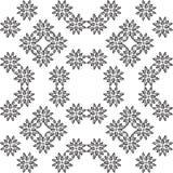 Czarny i biały kwiat powtórki wzór, szczegół zdjęcie royalty free