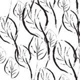 Czarny i biały liść bezszwowy wzór Obraz Stock