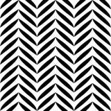 Czarny i biały liścia wzór royalty ilustracja