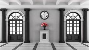 Czarny i biały luksusu domu wejście Zdjęcie Stock