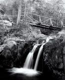 Czarny i biały mała siklawa Fotografia Stock