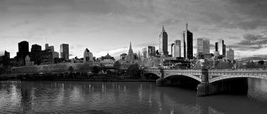 czarny i biały Melbourne fotografia stock
