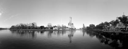 czarny i biały Melbourne obraz stock