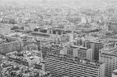 Czarny i biały miasto obraz stock