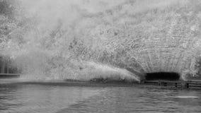 Czarny i biały obrazka Super pluśnięcie przy Wymarzonym światem na PAŹDZIERNIKU 2 Fotografia Stock