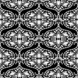Czarny i biały orientalny stylowy kwiecisty Paisley wektorowy bezszwowy pa royalty ilustracja
