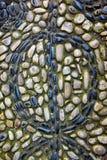 Czarny i biały ornament na otoczak ścieżce w haremu, Topkapi kumpel Obraz Stock