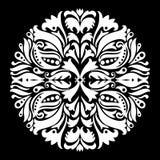 Czarny i biały ornamentacyjna round koronka ilustracji