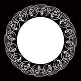 Czarny i biały ornamentacyjna round rama ilustracji