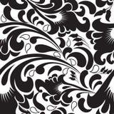 Czarny i biały Paisley wektorowy bezszwowy wzór royalty ilustracja