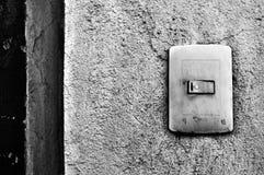 Czarny i biały plastikowy lekki przełącznikowy pudełko Zdjęcie Stock