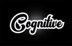 czarny i biały Poznawczy ręki pisać słowa tekst dla typografia logo ikony projekta royalty ilustracja