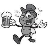 Czarny I Biały Prętowa komarnica z piwem Fotografia Royalty Free