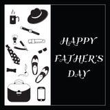 Czarny I Biały projekt kolekcja dzień szczęśliwego ojcze Zdjęcie Royalty Free