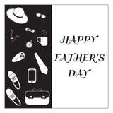 Czarny I Biały projekt kolekcja dzień szczęśliwego ojcze Zdjęcia Stock