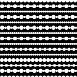 Czarny i biały prosta round koralik kolia, bezszwowy wzór, wektor ilustracja wektor