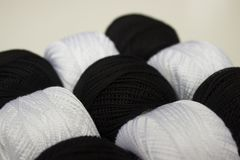 Czarny i biały przędza Fotografia Stock