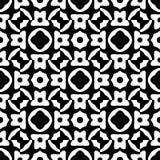 Czarny i biały przypadkowy deseniowy zoon w kwadrat formy crating abstrakcjonistyczna ilustracja, bezszwowy projekt, tło ilustracja wektor