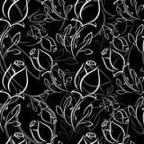 Czarny i biały róża ilustracji
