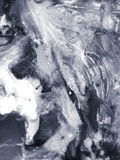 Czarny i biały ręka malujący abstrakcjonistycznej sztuki tło Zdjęcia Royalty Free