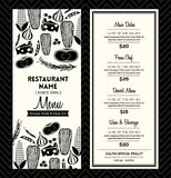 Czarny I Biały Restauracyjny menu projekta szablonu układ ilustracja wektor