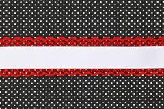 Czarny i biały retro polki kropki tkanina Obrazy Royalty Free