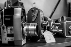 Czarny I Biały rocznik kamery obrazy royalty free