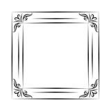 Czarny i biały rocznika kwadrata rama na białym tle Zdjęcia Royalty Free