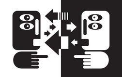 Czarny i biały rozmowa. ilustracji