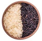 Czarny i biały ryż Zdjęcie Stock