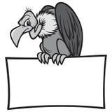 Czarny I Biały sęp z znakiem Royalty Ilustracja