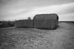 Czarny i biały słomiana połów kabina Zdjęcie Stock